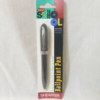 Vintage 1990 Sheaffer Ballpoint Pen Push Click  90s Yellow New Vtg Untested NIP