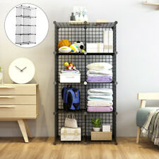8 Cube Storage Shelving Rack DIY Wire Grid Bookcase Modular Books Toys Clothes