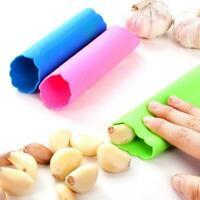 Silicone Garlic Cloves Peeler Skin Remover Press Roller Kitchen Tool F5X3