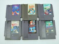 Nintendo NES Games LOT of 6 - AUTHENTIC UNTESTED Mario Bros Tetris Pinball