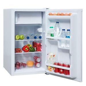 SIA LFIWH 48cm White Free Standing Under Counter Fridge With 3* Ice Box