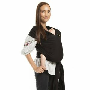 Boba Baby Wrap Carrier - Original Child and Newborn Sling (Black) Infant to Todd