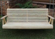 Rollback Amish Heavy Duty 5ft Natural Porch Patio Garden Swing Outdoor Furniture