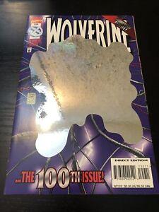 Wolverine #100 Deluxe (1996) FV/NM Marvel Foil Hologram Cover Anniversary