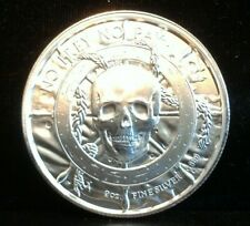 No Prey No Pay 2 oz High Relief .999 Silver Skull Pirate Mermaid Round