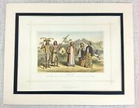 1882 Antico Stampa Tradizionale Malese South Asiatico Costume Abito Borneo Asia