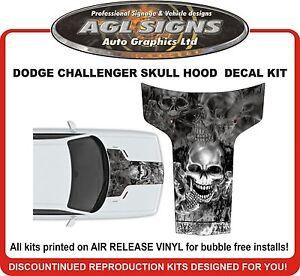 DODGE CHALLENGER Skull Hood Graphic Decal   2011 2012 2013 2014 2015 2016 2017