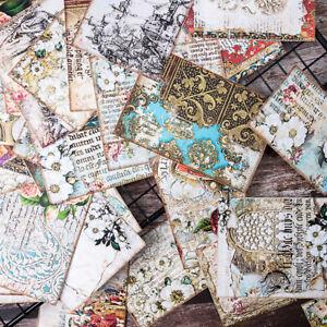 31x Retro Ornate Flower Paper Background Scrapbooking DIY Album Card Making Deco