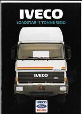 FORD IVECO LOADSTAR 17 TONNE RIGID LORRY TRUCKS SALES BROCHURE EARLY 80's