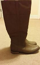 Rampage women's US 9.5 M Indella light brown classic slip on thigh high boots