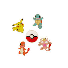 USA 5pcs Pokemon Go Pocket Monster Pikachu Badge Squirtle Brooch Cosplay Pins