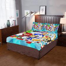 New Design Custom Sonic The Hedgehog Duvet Cover Pillow 3-Pieces Bedding Set