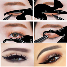 2PCS Makeup Women Cat Line Pro Eye Tool Eyeliner Stencils Template Shaper Model