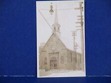 Eglise N.D. des Victoires Church QuebecRPPC Unused B&W PC11