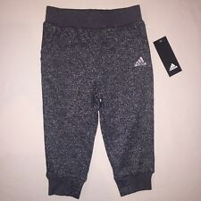 Girls Size 5 5t Adidas Crop Joggers Athletic Running Pants Black Sparkle Nwt
