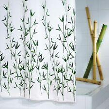RIDDER Duschvorhang Bambus Textilgewebe 180x200cm Badewannenvorhang Badvorhang