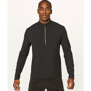 Lululemon Surge Warm 1/2 Zip Pullover Jacket Top Black  Men's Large