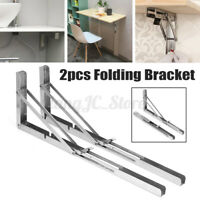 2Pcs Folding Table Bracket Wall Shelf Bench Support Stand Rack Holder Heavy