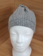 Woolen Hat Beanie Winter Warm Light Grey Marl Mens Made in Scotland  #2