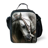 Horse Thermal Insulated Lunchbox Carry Tote Picnic Cooler Bag Kid Back to School