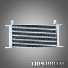 Universal Silver 18 Row AN-10AN Engine Transmission Oil Cooler Aluminum