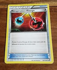Carte Pokémon Récupération d'Énergie 92/114 Noir & Blanc VF