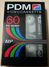 PDM 8MM P5-60MP Blank Camcorder Tape 60 Min - Video 8 - Philips Dupont Magnetics