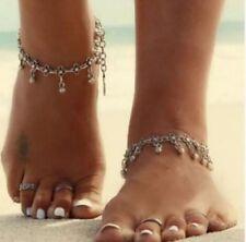 Fußkettchen Fusskette Blogger Farbe Silber Kette Schmuck Geschenk Perle Neu P162