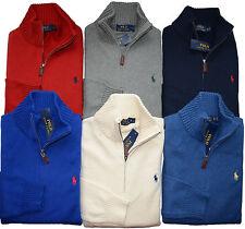 NWT RALPH LAUREN POLO Men's Half Zip Sweater Pullover Cotton Knit S M L XL XXL