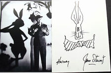 James Stewart Signed Rare Harvey Film Sketch Authentic Perfect For Display