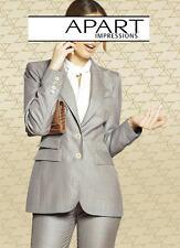 NEU BUSINESS EDELSTYLE NADELSTREIFEN HOSE 34 42 44 46 APART 70€ grau sand*394830