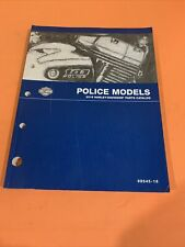 Harley Davidson 2016 Flt Police Parts Catalog Manual 99545-16