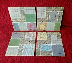 Space Crusade Main Game Boards All 4 Sections MB Board Games Playing Board Items