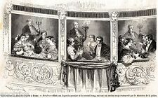 ROMA:ex Teatro Apollo (Tordinova): Rinfresco Ministro Polizia.Stampa Antica.1859