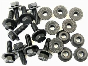 For Nissan Body Bolts & Flange Nuts- M6-1.0 x 20mm Long- 10mm Hex- 20 pcs- #387