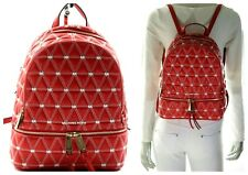 Michael Kors Rhea Medium Quilted Leather Backpack in Bright Red NWT$358.00