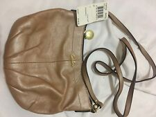 COACH Beige Multi Color Soho Op Linen Pleated Sling Crossbody Bag