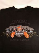 Vintage Central Harley Davidson Shift Happens Olathe Kansas Tshirt Size 2XL USA