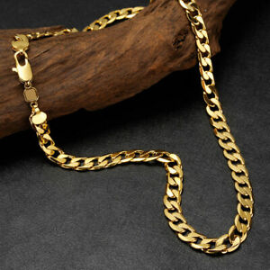Mens Necklace Chain Chunky Gold Silver Curb Link Boys Fashion HipHop Rock Punk