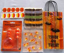 New Pumpkin Carving Kit - 20 Halloween Candy Bags - 30 Halloween Tags