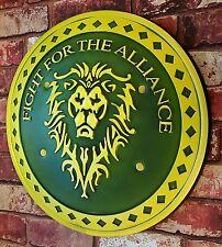 LARGE WoW Alliance Shield CosPlay Larp WarCraft Lionheart Frostmourne UK