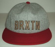 Brixton Hamilton Wool Gray Red Cap Hat Strap Back One Size Hat Mens NEW!