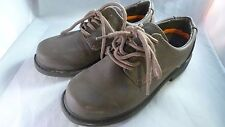 Boys Brown Hush Puppies Size 1M  Tie Oxford Shoes