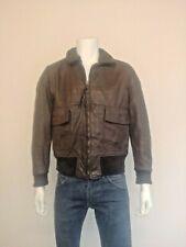 The Martin Lane Co Vietnam 1970s G-1 Bomber Jacket - USN Stamped. 100% Leather