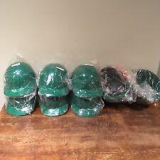 (Lot of 7) Fibre-Metal Hard Hats Honeywell Green E2RW74A000 Front Brim Ratchet