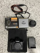 Canon EOS M50 24.1MP Mirrorless Digital Camera Bundle with Lenses & Adaptor