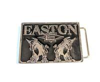 vtg Easton Sports Advertising Belt Buckle with Logo + Bulls