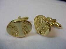Gold No Stone Cufflinks for Men