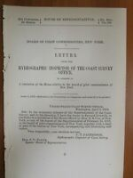 Government Report 4/5/1872 Hydrographic New York Harbor Water Ocean Sea US
