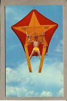 Postcard FL Winter Haven Cypress Gardens Human Kite Ski Show Skiing 2145H